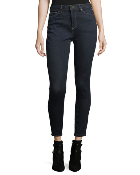 DL1961 Premium Denim Chrissy Trimtone High-Rise Skinny Jeans
