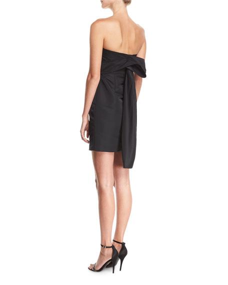 Corset Strapless Tieback Satin Mini Dress