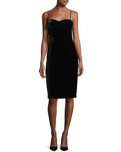 Corset Luxe Velvet Sheath Dress