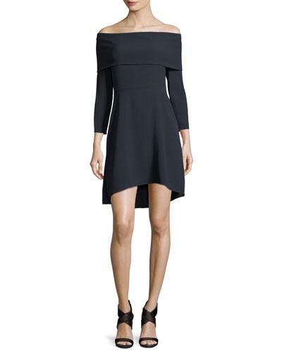 Kensington Off-the-Shoulder Mini Cocktail Dress