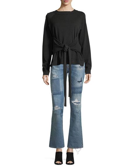 Stella High-Waist Distressed Bellbottom Jeans