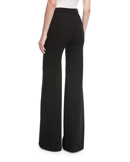 Gwen High-Waist Wide-Leg Pants