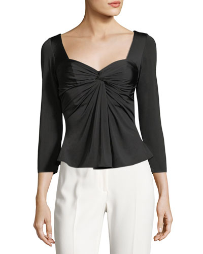 Alle Twist-Front 3/4-Sleeves Top
