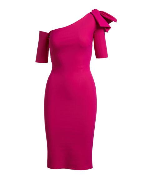 Sammy Asymmetric Short-Sleeve Dress