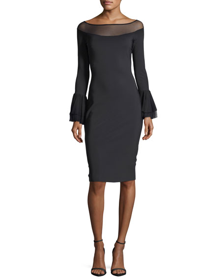 Chiara Boni La Petite Robe Giuly Illusion Long-Sleeve