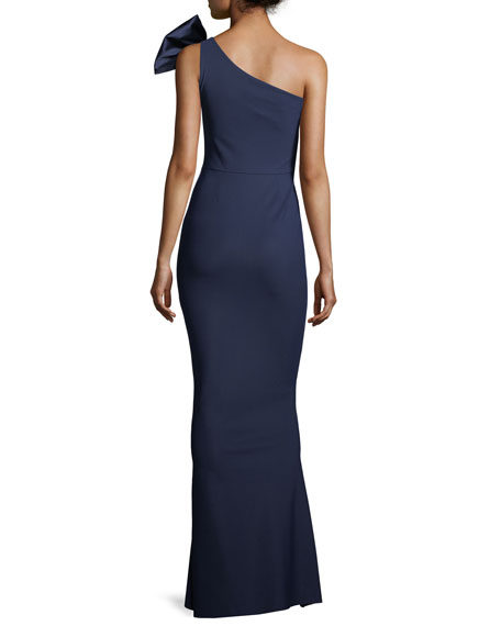Jasmine Asymmetric Bow-Detail Gown