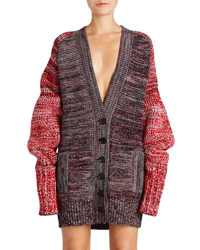 Knit Mouliné Cashmere-Blend Cardigan