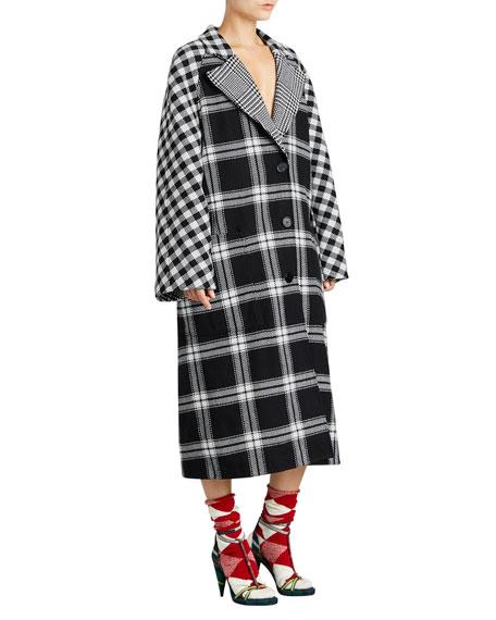 Oversized Reversible Scottish Tartan Coat