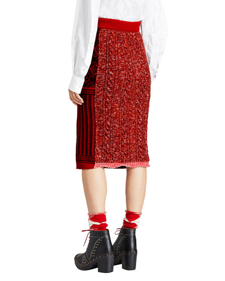 Burberry Fair Isle Knit Skirt and Matching Items