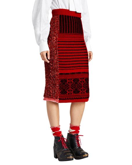 Burberry Fair Isle Knit Skirt