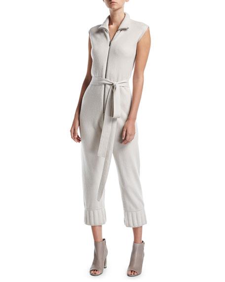 Zip-Front Cashmere Jumpsuit