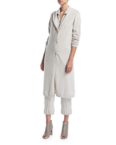 Button-Front Cashmere Coat