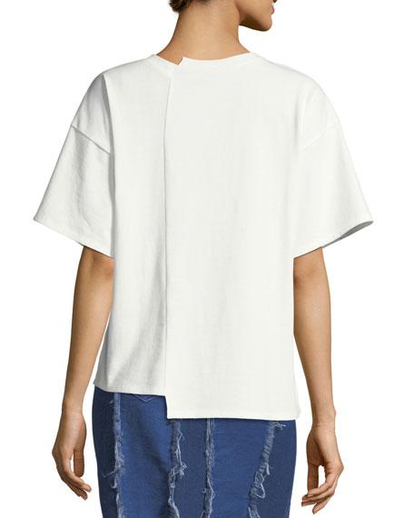 Sabrina Bias-Cut Cotton T-Shirt