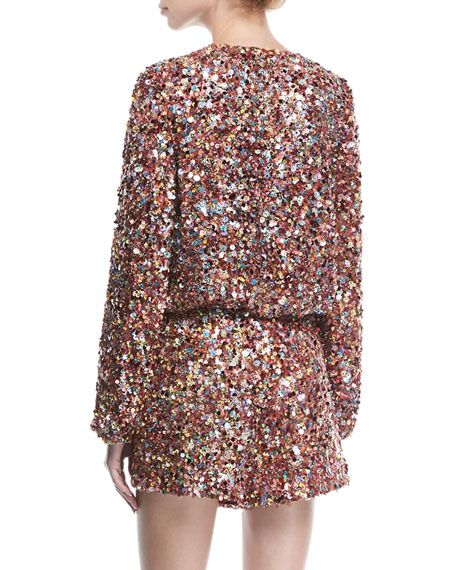 Jezebell Sequined Silk Romper