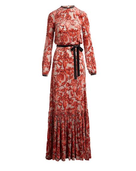Felice Velvet Burnout Maxi Dress