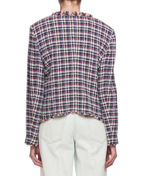 Nawell Open-Front Tweed Jacket