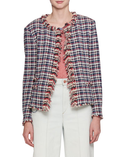 Nawell Open-Front Tweed Jacket