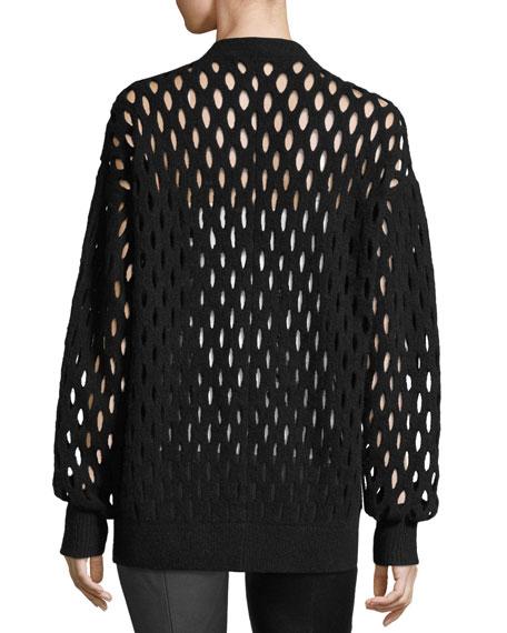 Fishnet Knit Cardigan