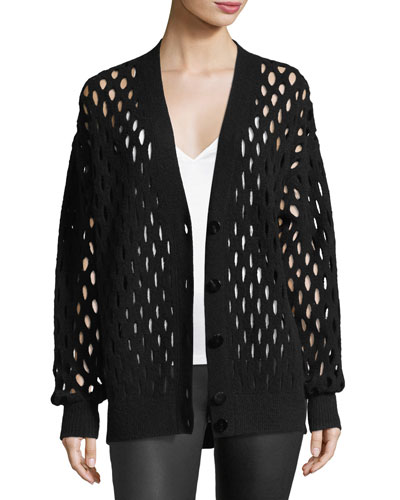 Fishnet Knit Cardigan