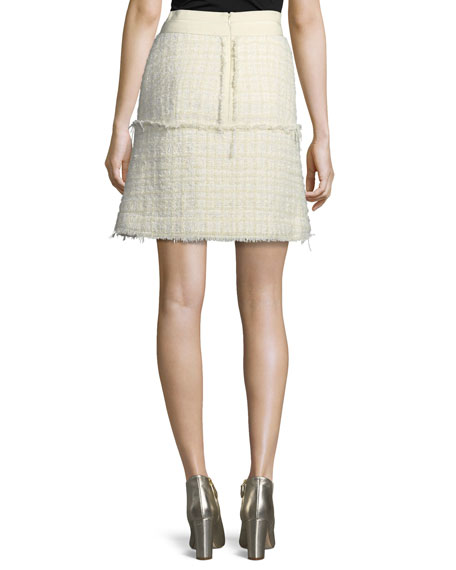Deconstructed Tweed A-Line Skirt