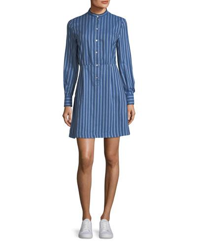 Lili Striped Cotton Shirtdress