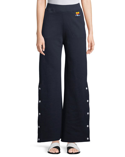 Side-Snap Fleece Trousers