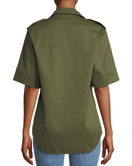 Snap-Front Safari Shirt