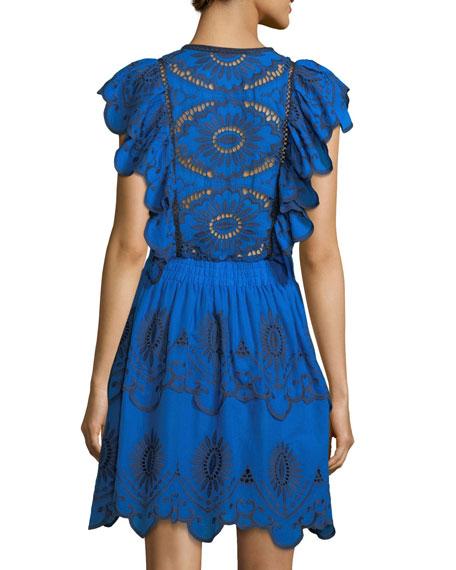 Tassel-Tie Eyelet Dress