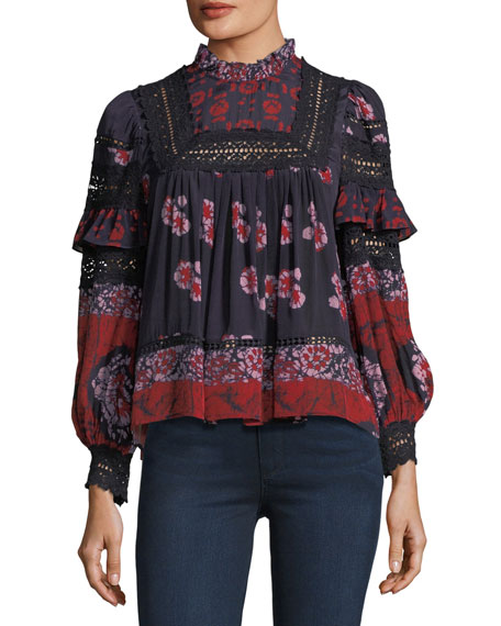 Long-Sleeve Peasant Blouse