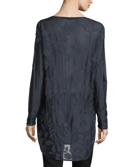 Botanic Jacquard Long-Sleeve Tunic