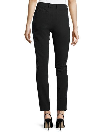 Manhattan Lace-Embroidered Sleek Tech Pants