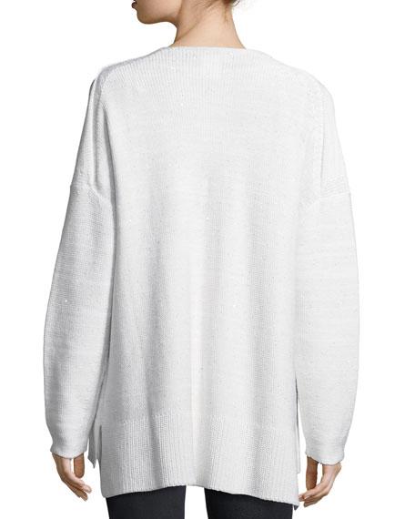 Sequined Silk Sweater w/ Tank