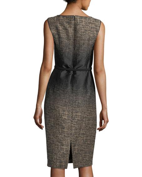 Paulette Ombré-Print Sheath Dress