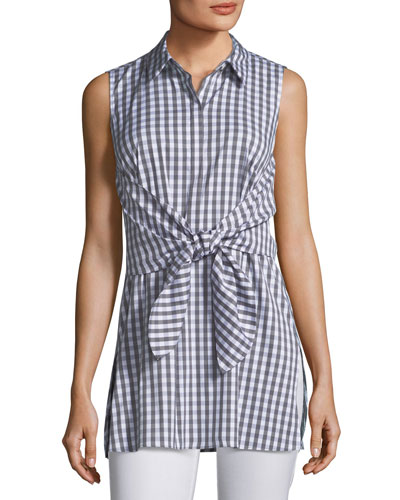 Mariel Hampton Check Shirting Blouse