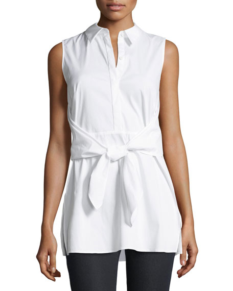Mariel Stretch-Shirting Blouse