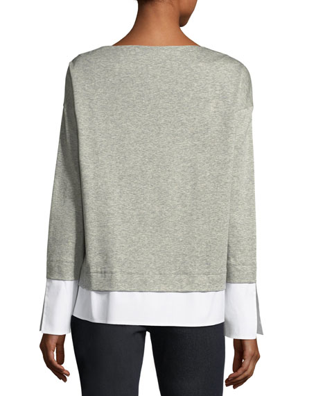 Gabriel Seemingly Layered Heather Top