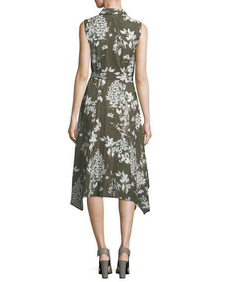 Moxie Exposed-Blooms Shirtdress