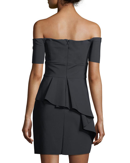 Vanessa Off-the-Shoulder Mini Cocktail Dress