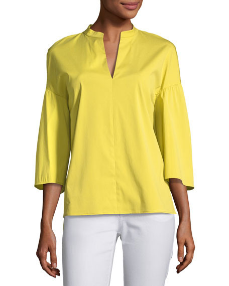 Carla Stretch-Cotton Blouse