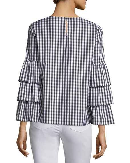 Revina Hampton Check Shirting Blouse