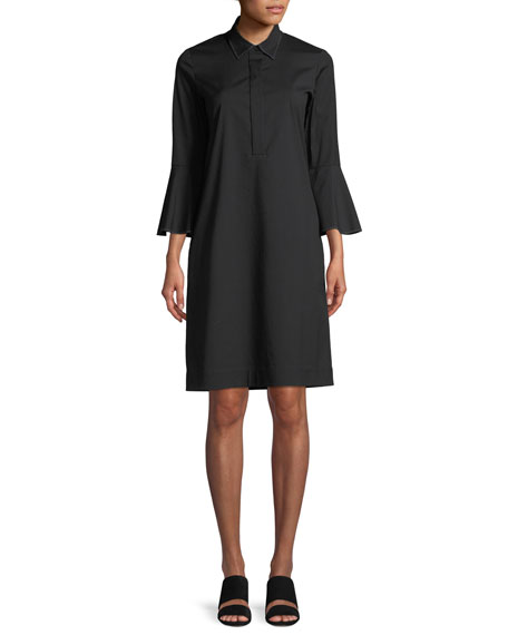 Lunella Stretch-Cotton Shirt Dress