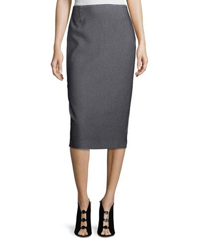Modular Jacquard Pencil Skirt