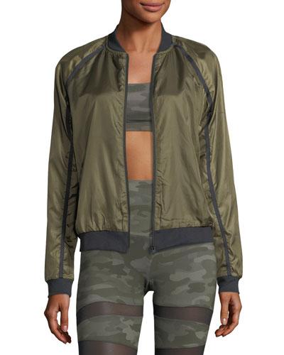 Zip-Front Lightweight Bomber Jacket