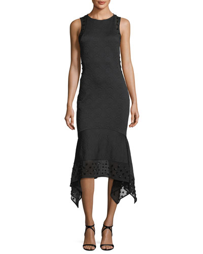Medallion Jacquard Midi Dress