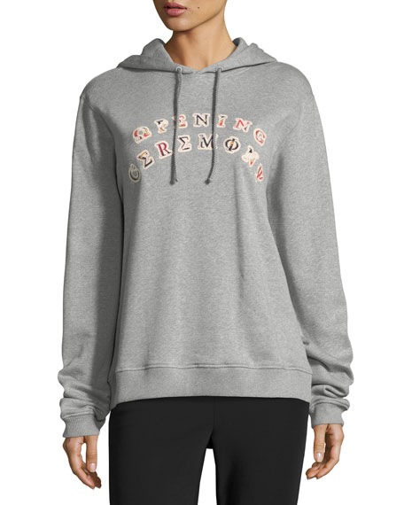 Sorority Logo Patch Hooded Sweatshirt