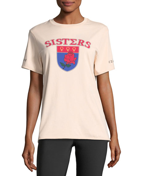 Sisters Short-Sleeve Printed Reversible Tee