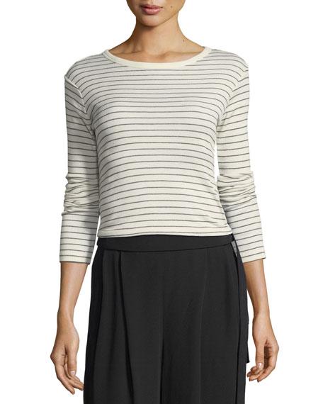 Double Pinstripe Shirttail Cotton Top