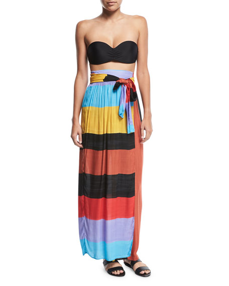 Cora Colorblocked Convertible Coverup Maxi Skirt/Dress