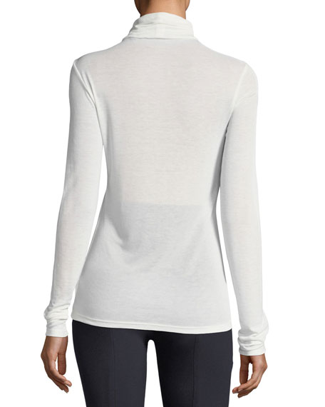 Super-Slim Long-Sleeve Turtleneck Top