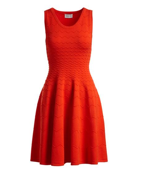 Degrade Chevron Flare Dress